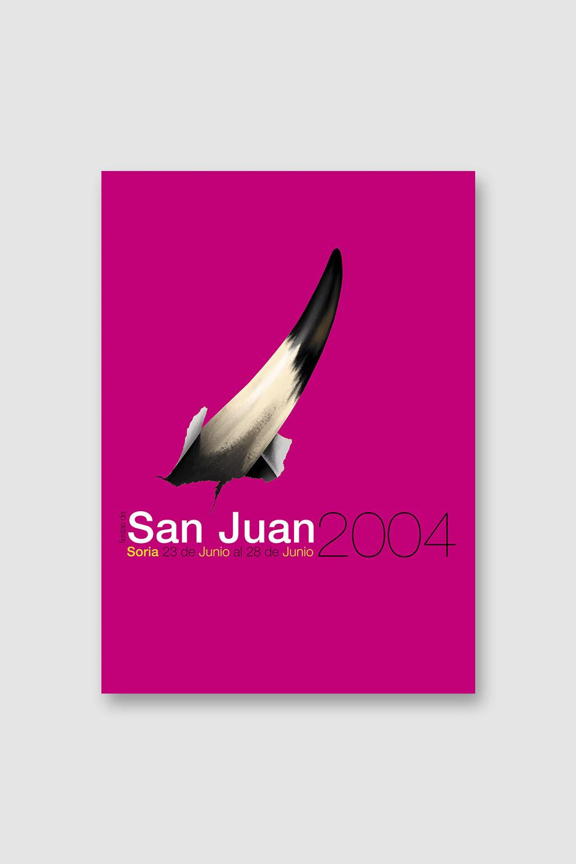 diseño cartel san juan 2004 soria