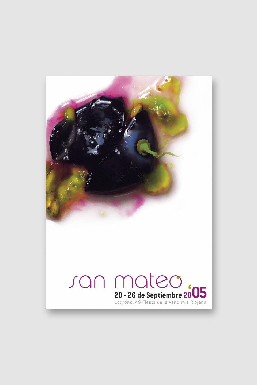 diseño cartel san mateo 2005 logroño
