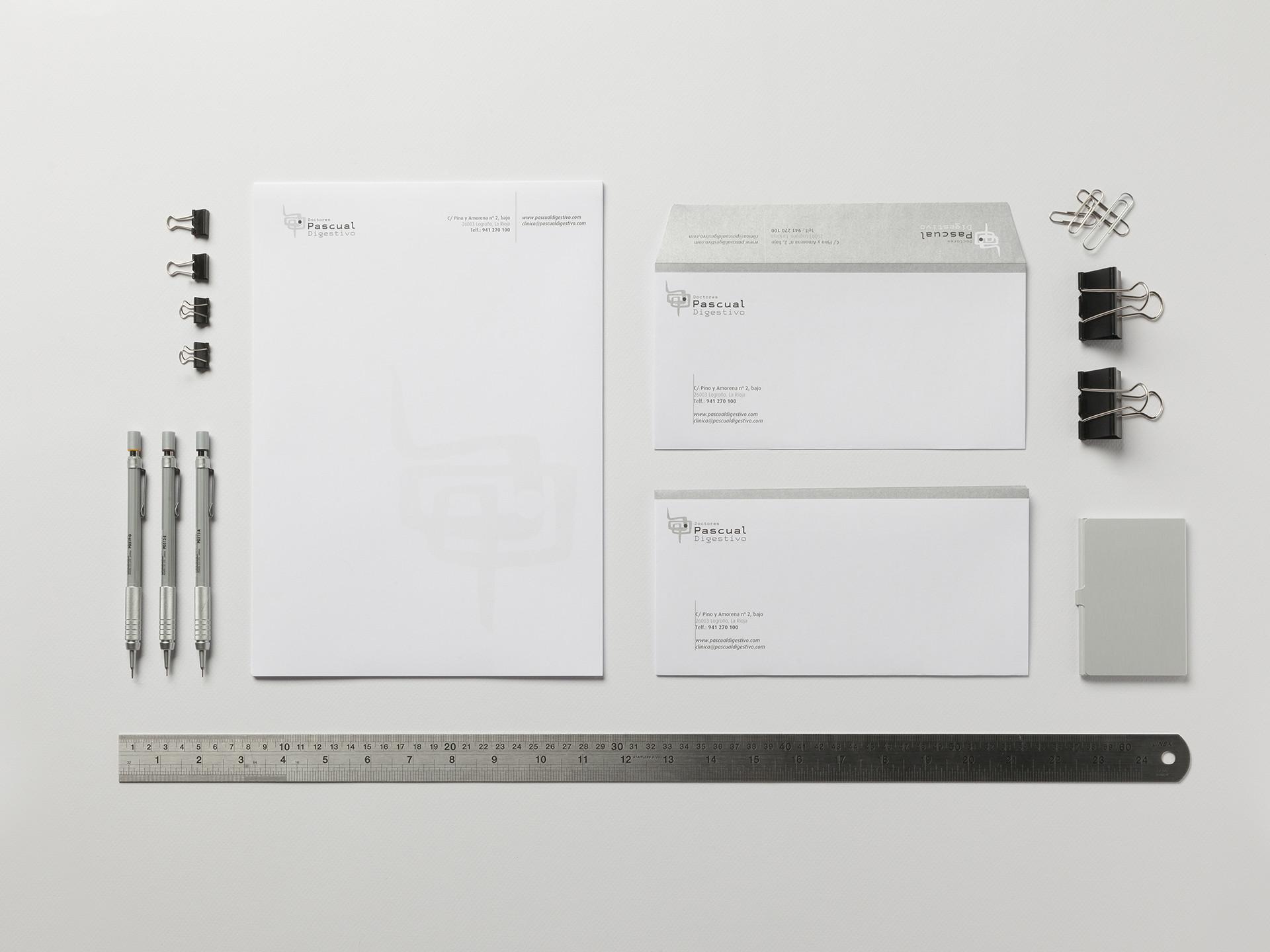 diseño papelería consulta digestivo logroño