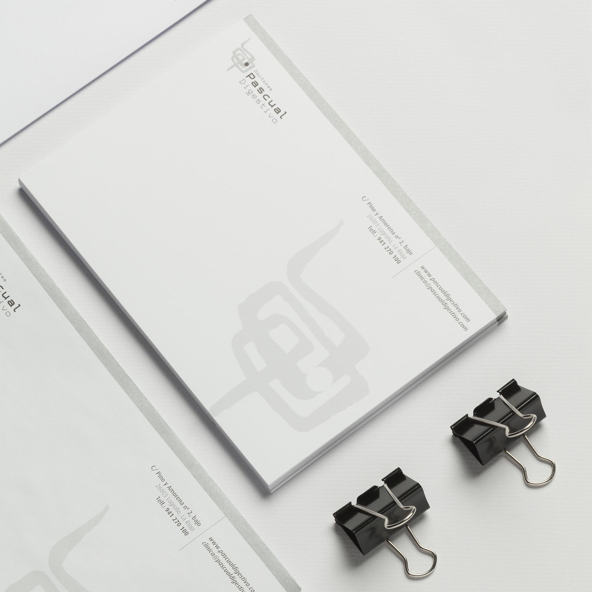 diseño papelería consulta privada digestivo