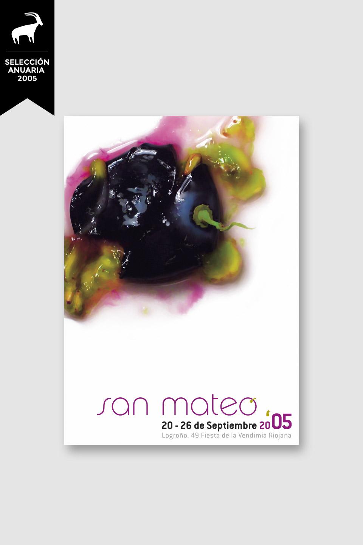 diseño cartel san mateo 2005 logroño selección anuaria 2005