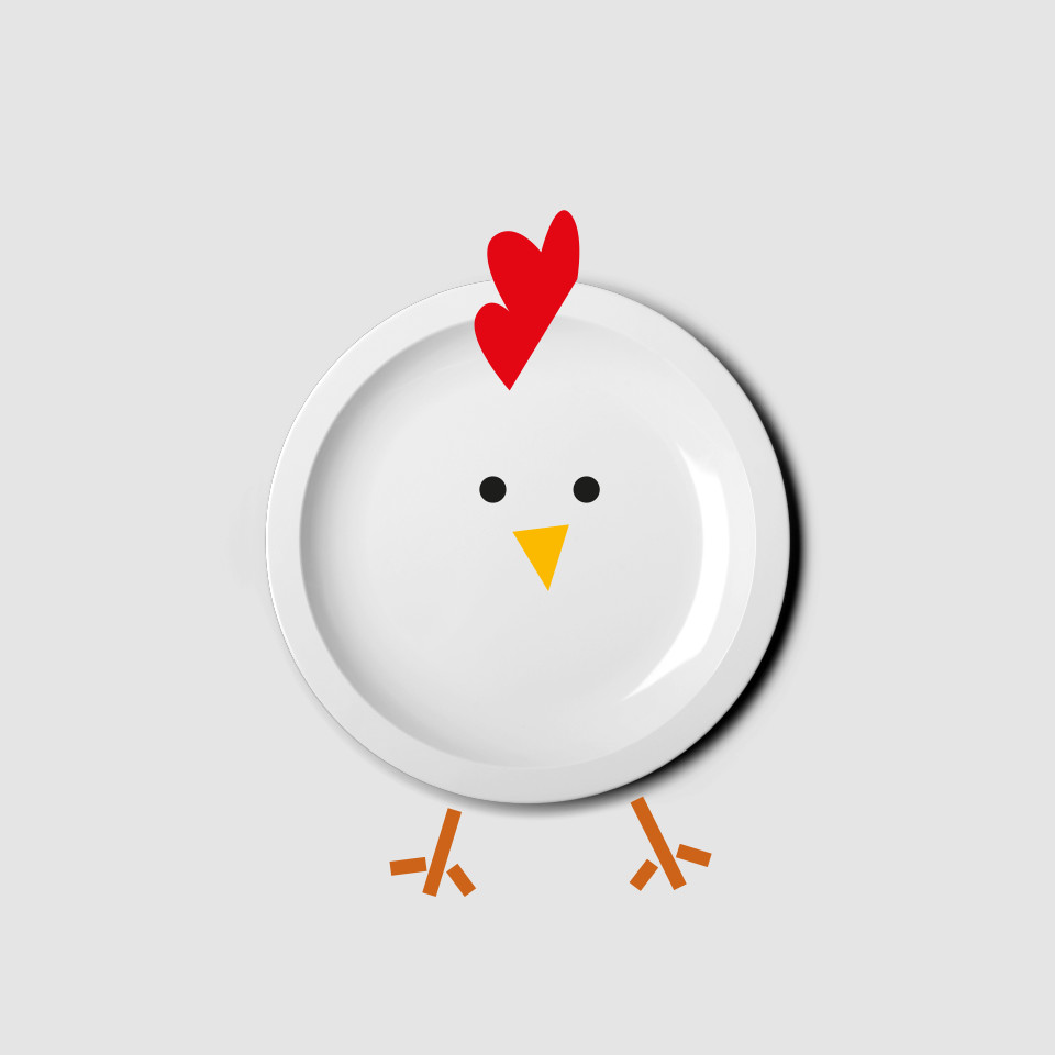 diseño logotipo restaurante Logroño chick chick Chicken