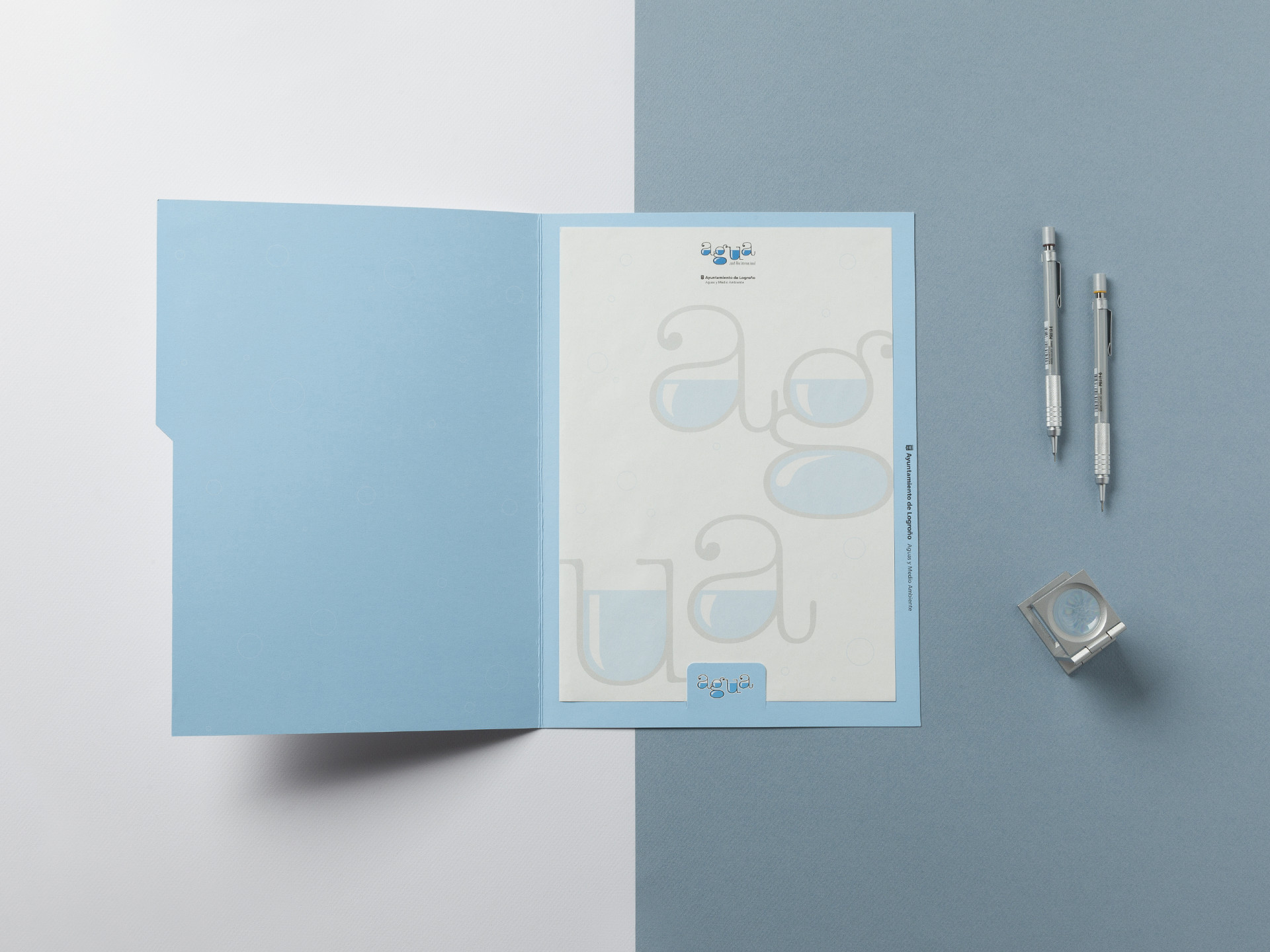 Diseño identidad corporativa agua