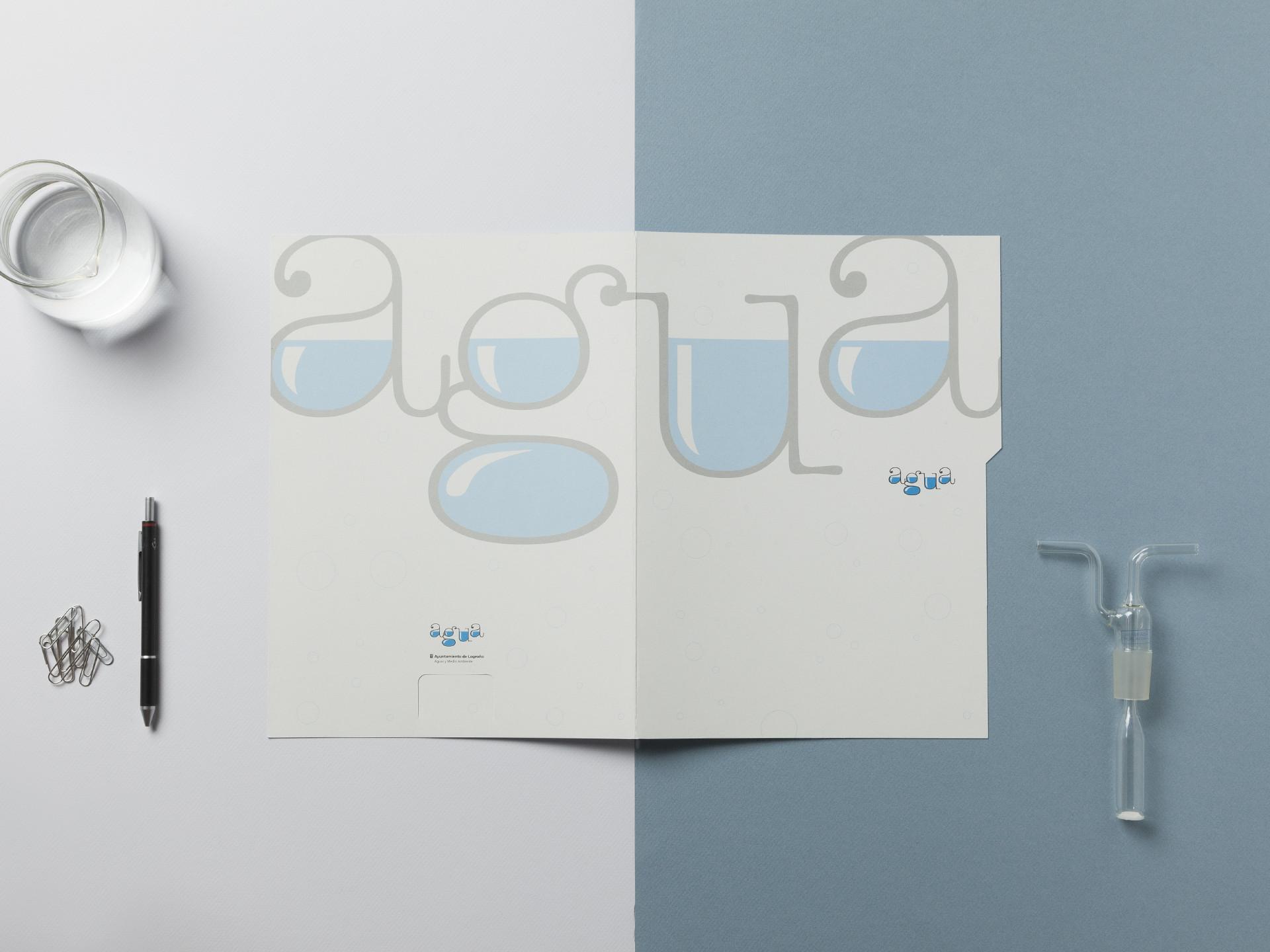 Diseño papelería corporativa agua