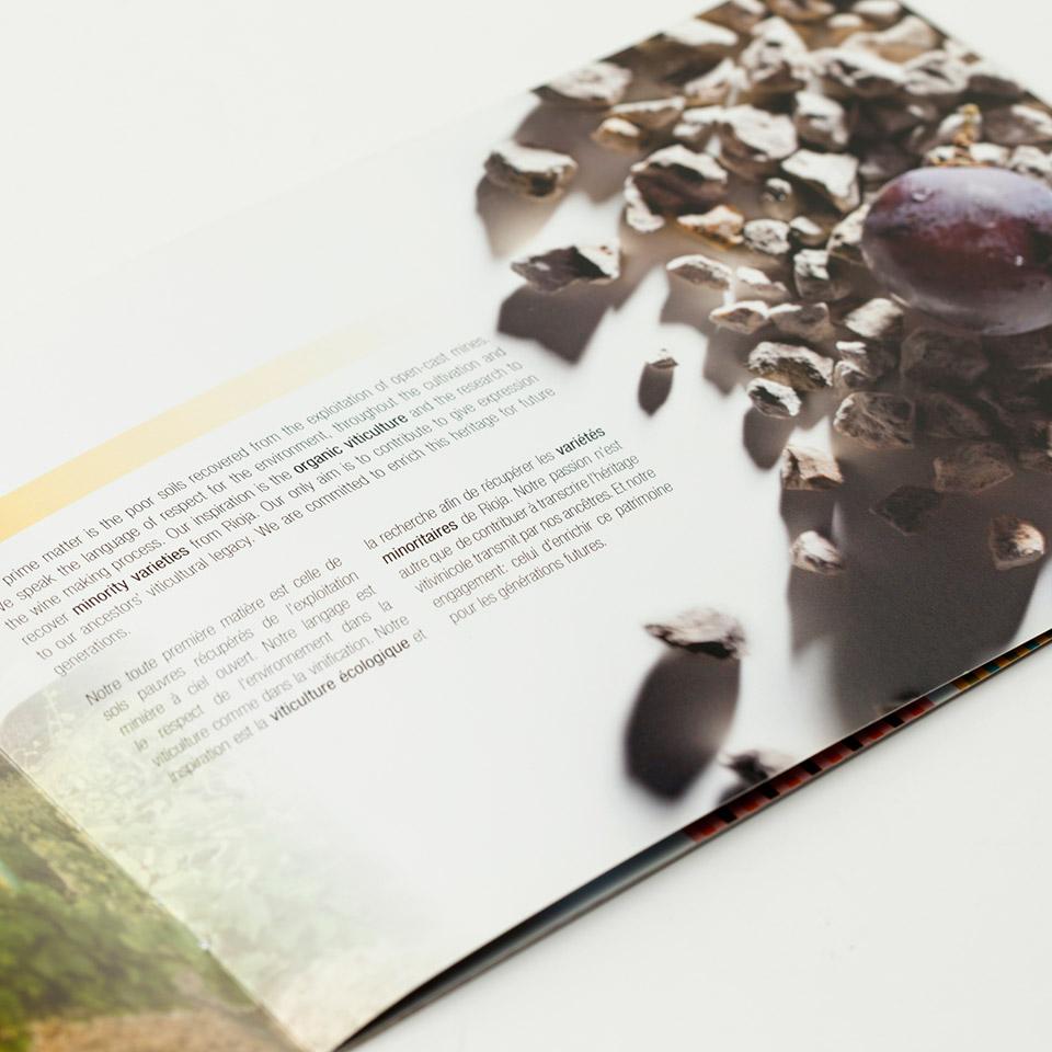 Diseño catálogo vino Ijalba