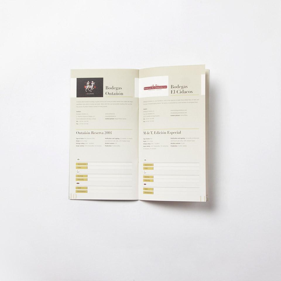 diseno catalogo vino promocional