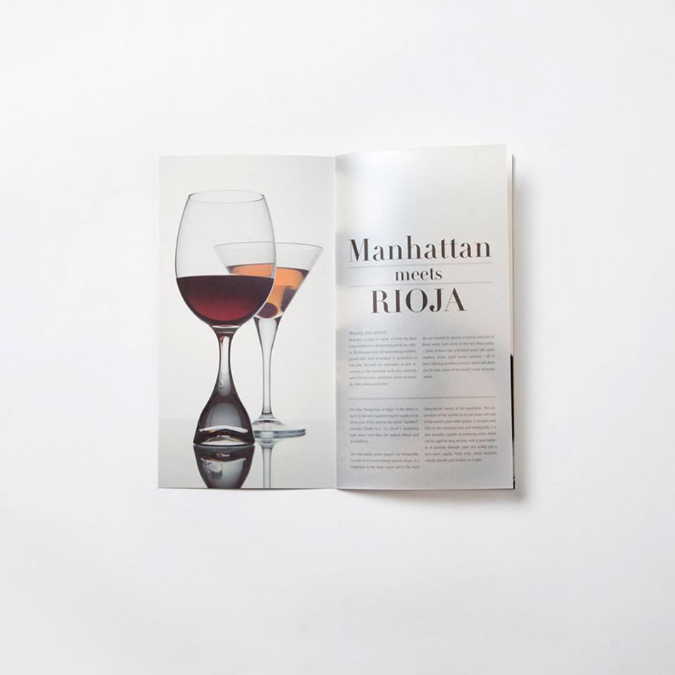 diseño catalogo vino promocional interior