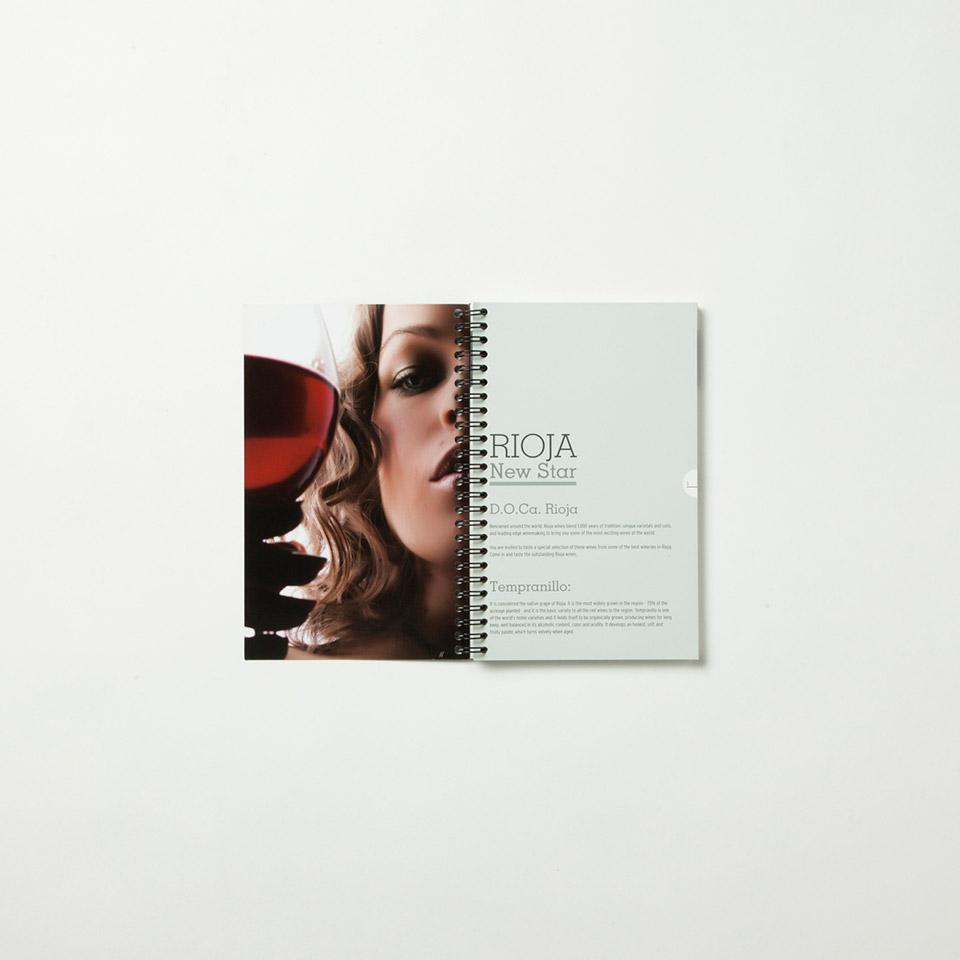 Diseño catálogo vino promocional Marilyn