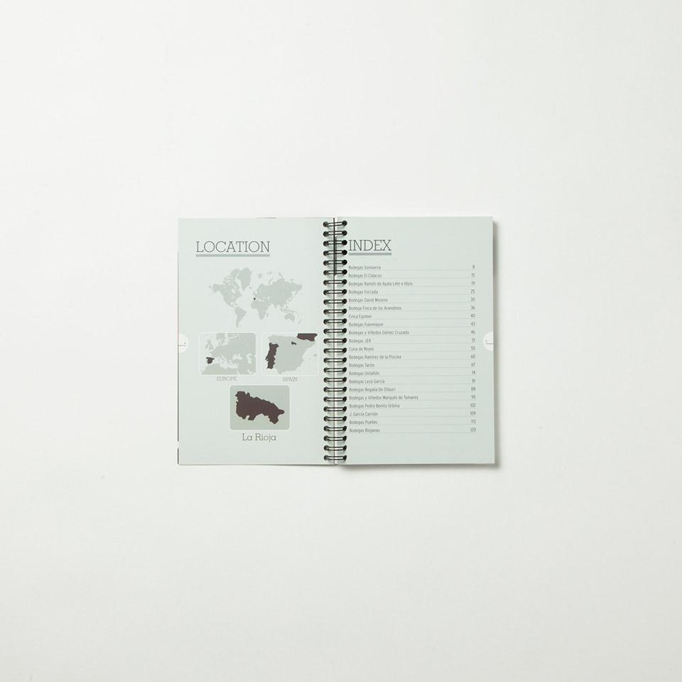 Diseño catálogo de producto de vino