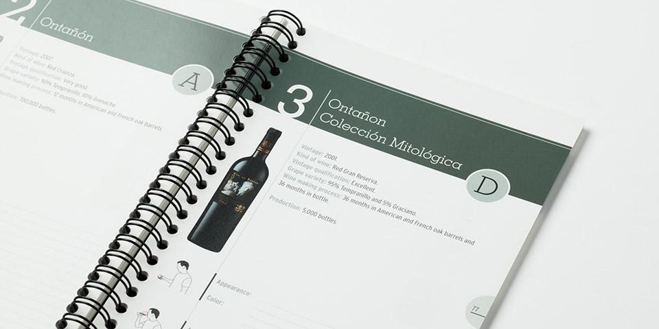 Diseño catalogo de promoción vino de Rioja
