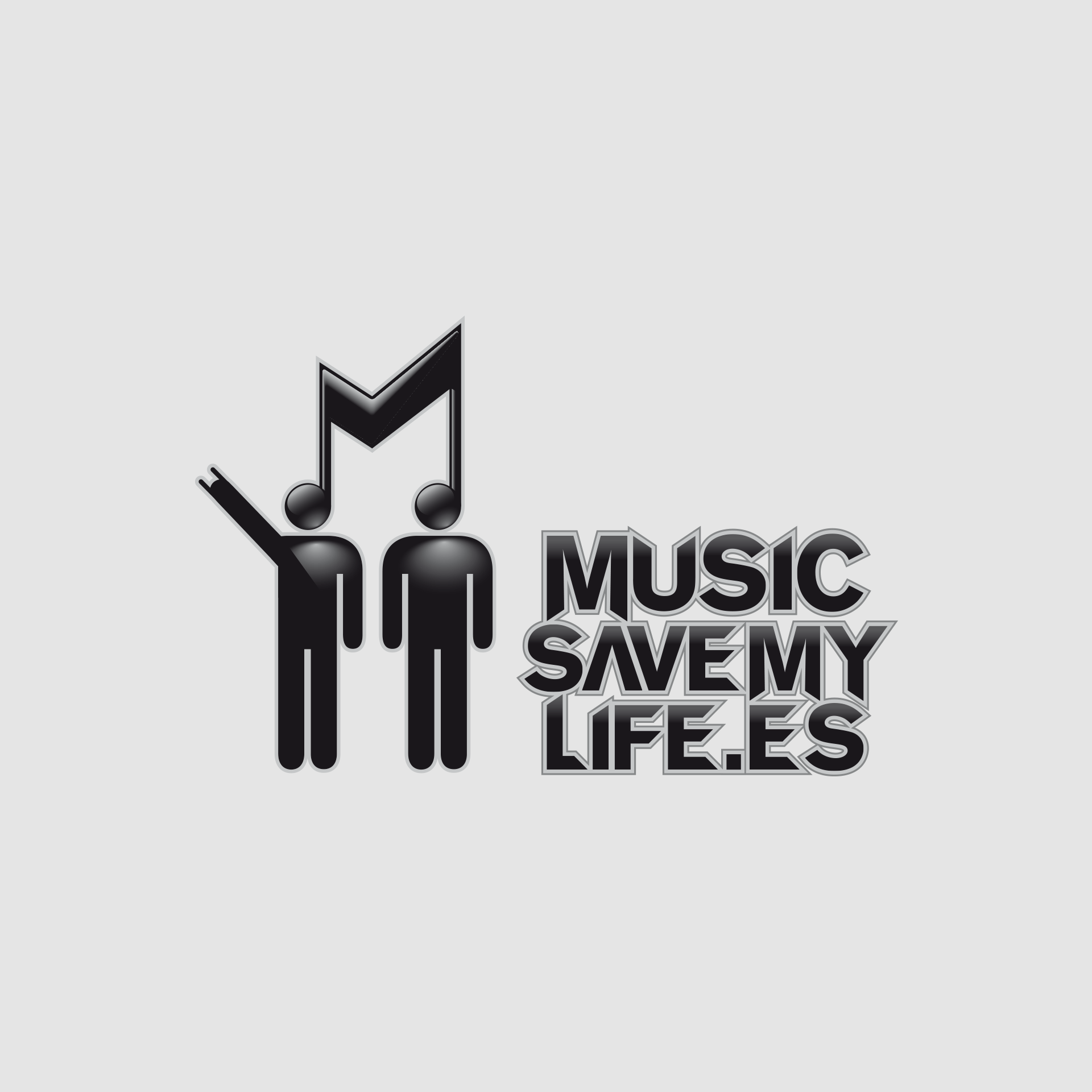 diseño logotipo music save my life