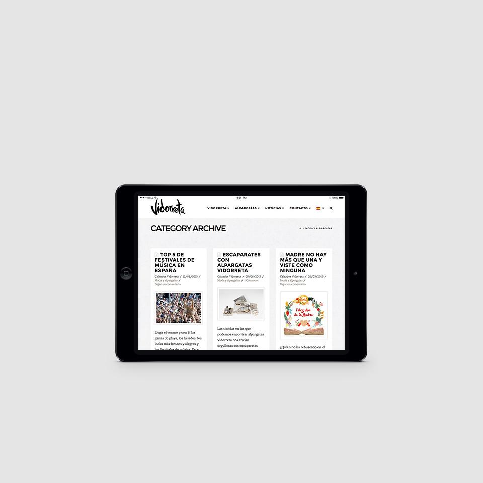 desarrollo web accesible alpargatas vidorreta