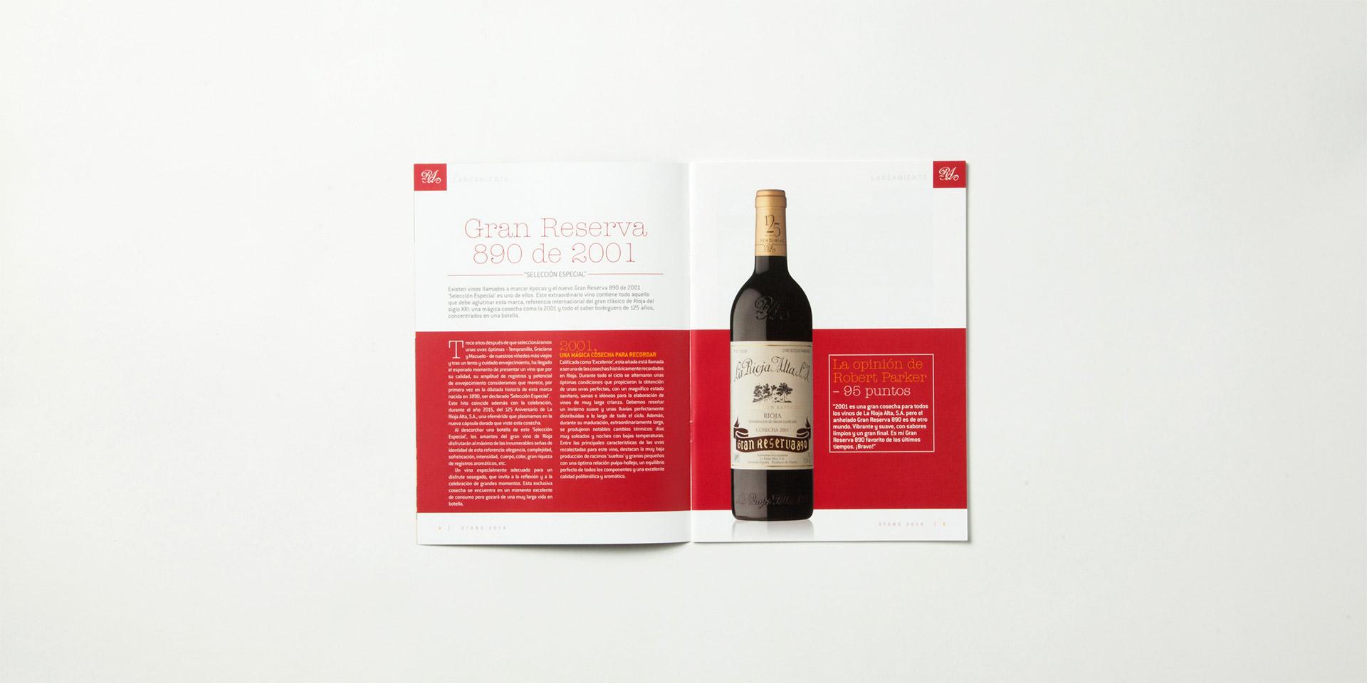 Diseño gráfico y maquetación boletín La Rioja Alta S.A.