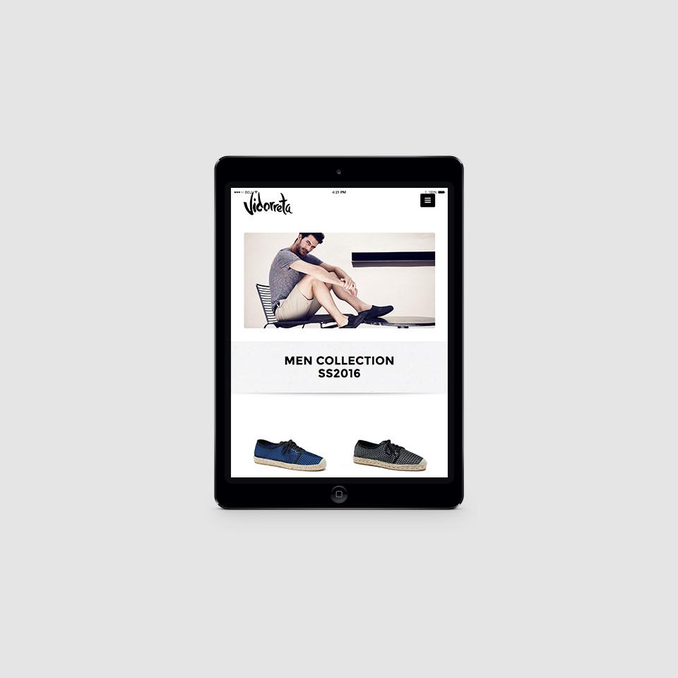 diseño páginas web tablets alpargatas vidorreta