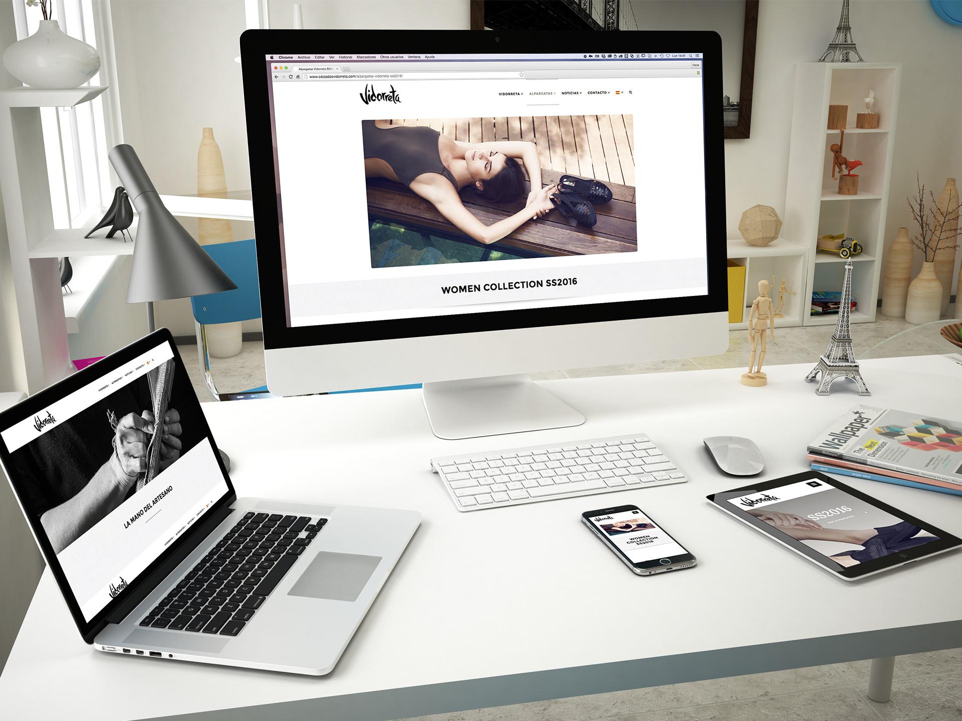 diseño web responsive wordpress vidorreta