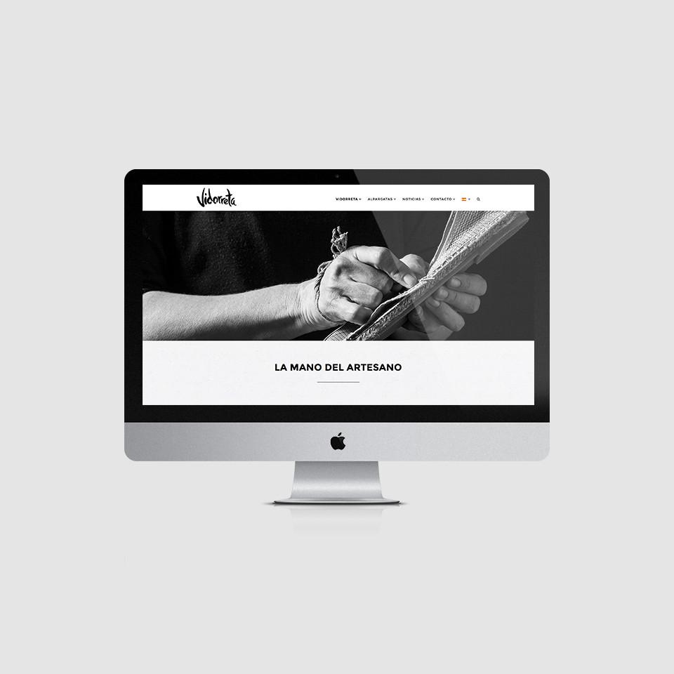 diseño web wordpress alpargatas vidorreta