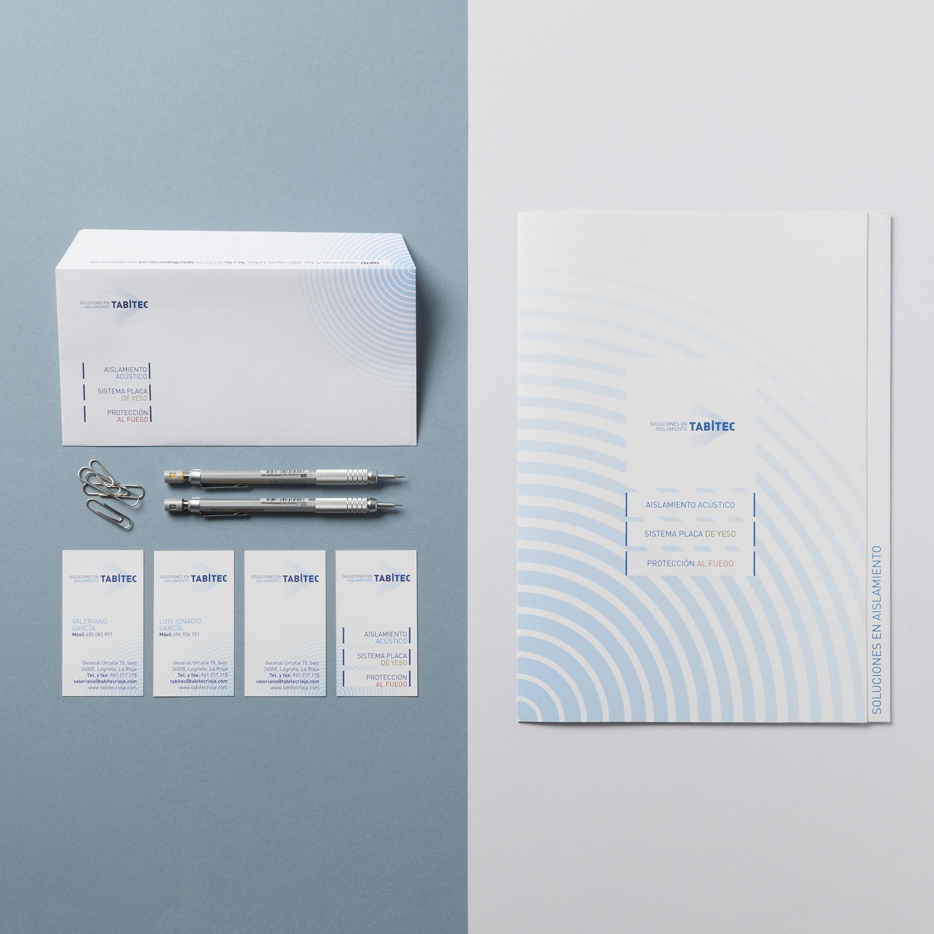 diseño papelería aislamientos tabitec