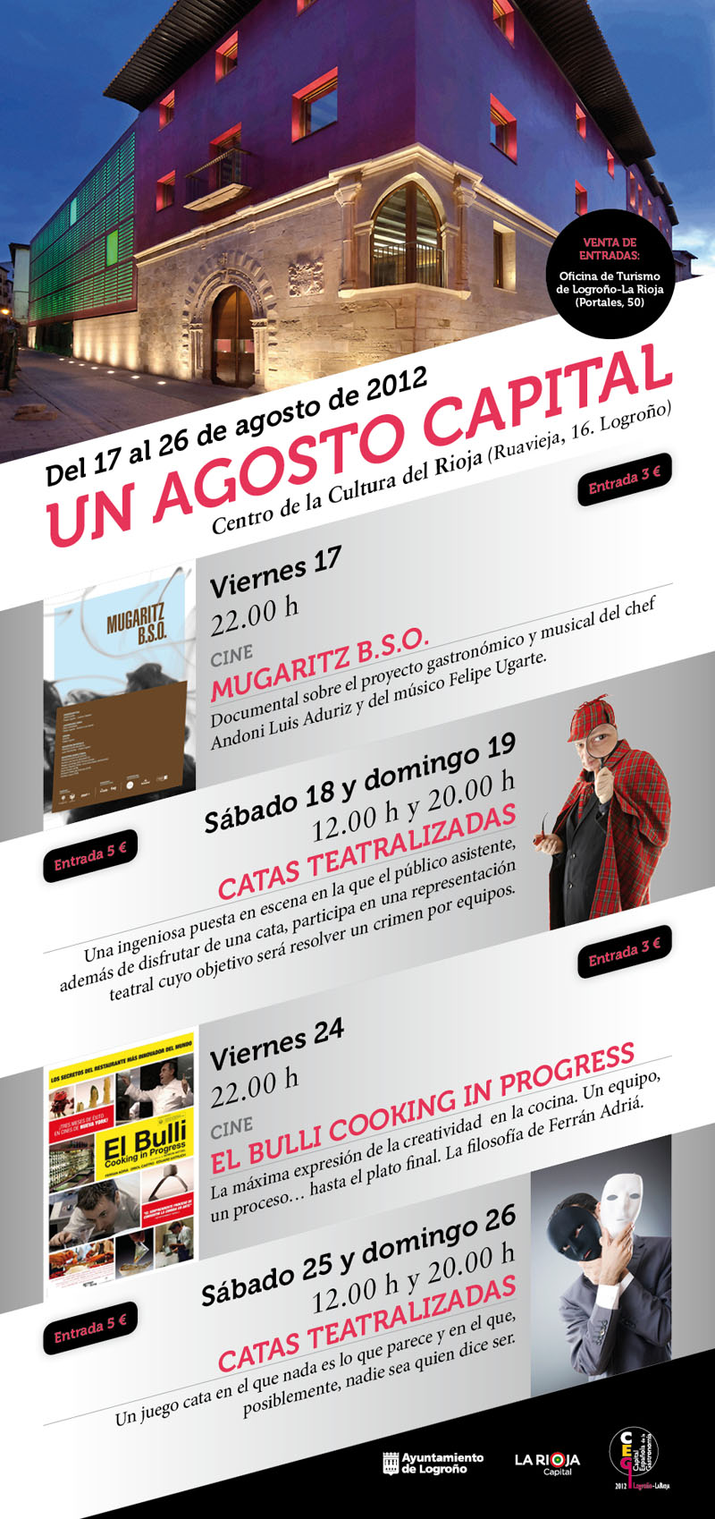 "Diseño cartel ""Un agosto capital"""