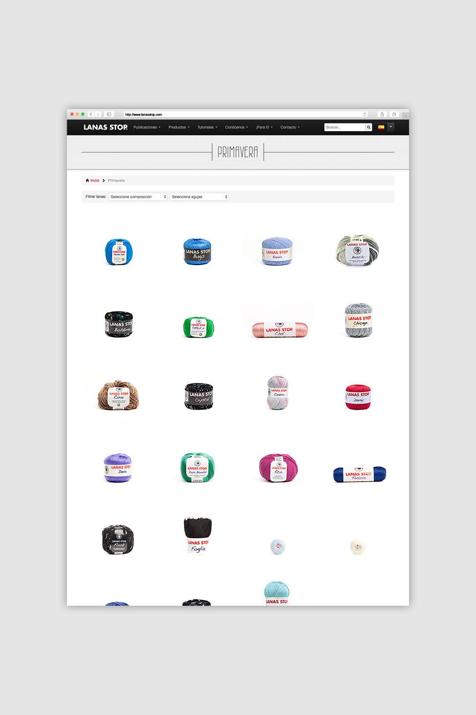 diseño paginas web la rioja lanas stop