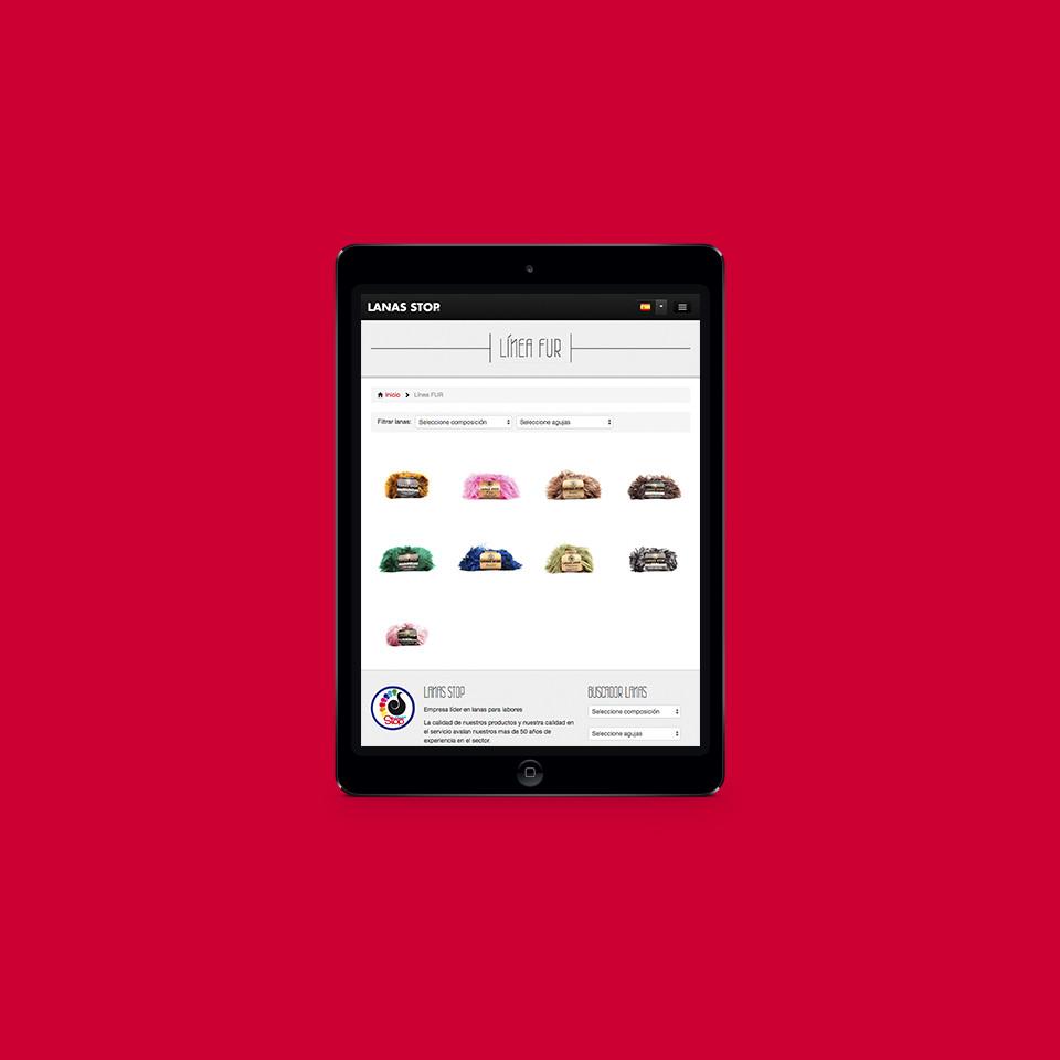diseño web accesible lanas stop larioja