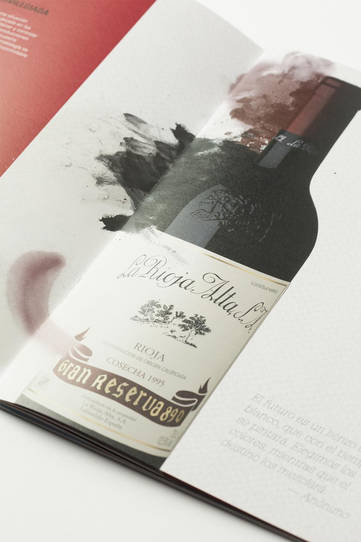 Creatividad catálogo vino Rioja Alta