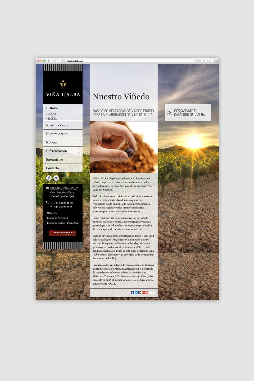 desarrollo web responsive bodegas ijalba