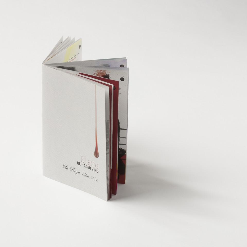 Diseño creatividad catálogo vino Rioja Alta S.A.