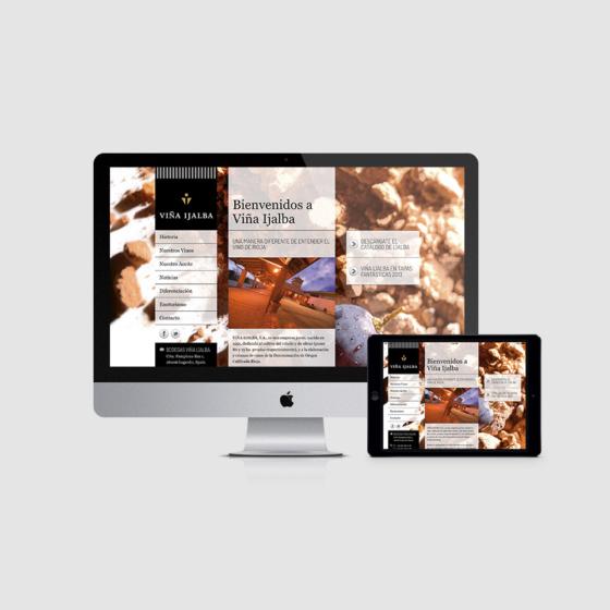 Diseño web adaptativo bodegas Viña Ijalba