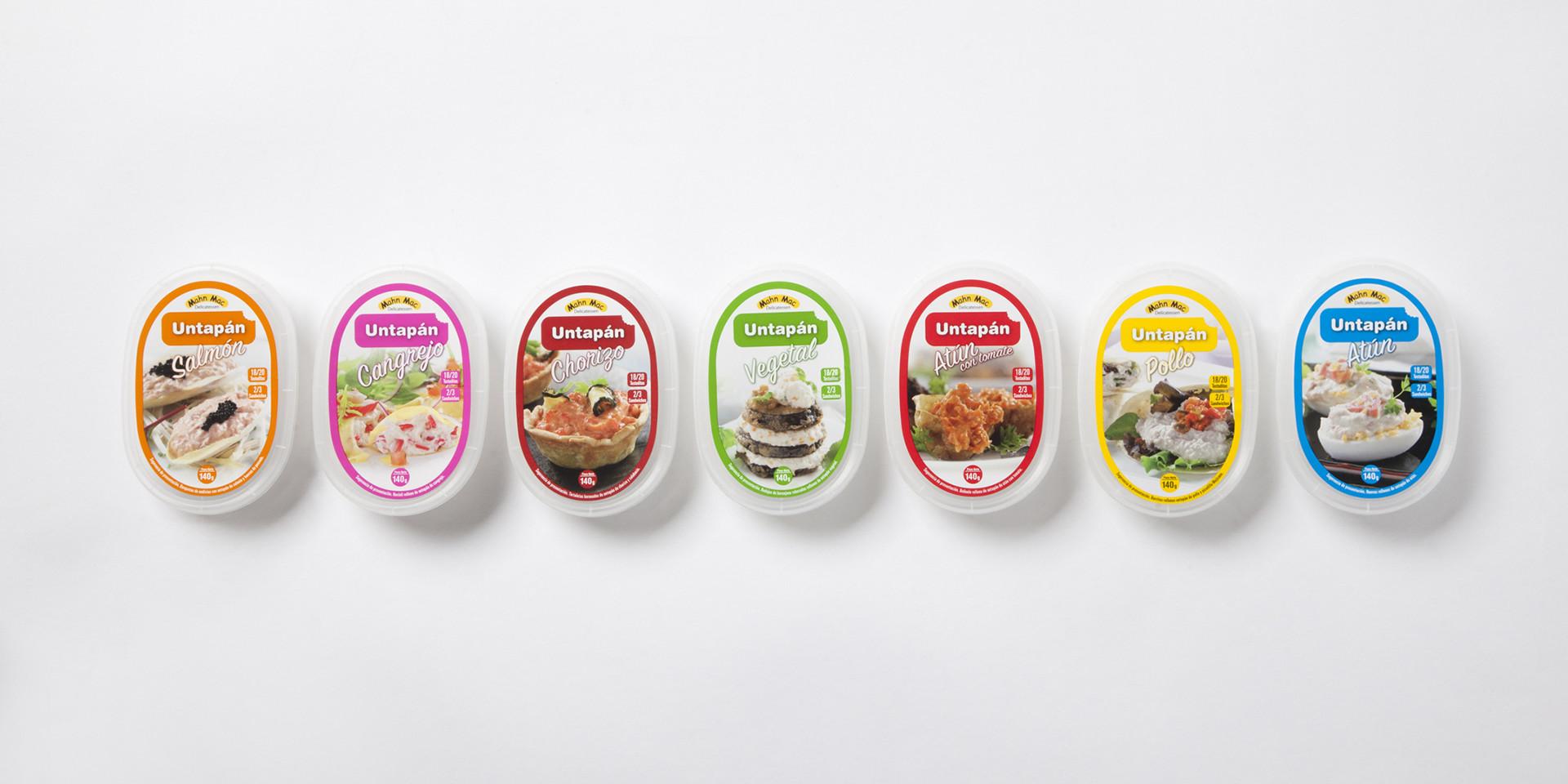 diseño gama packaging alimento quinta gama untapan