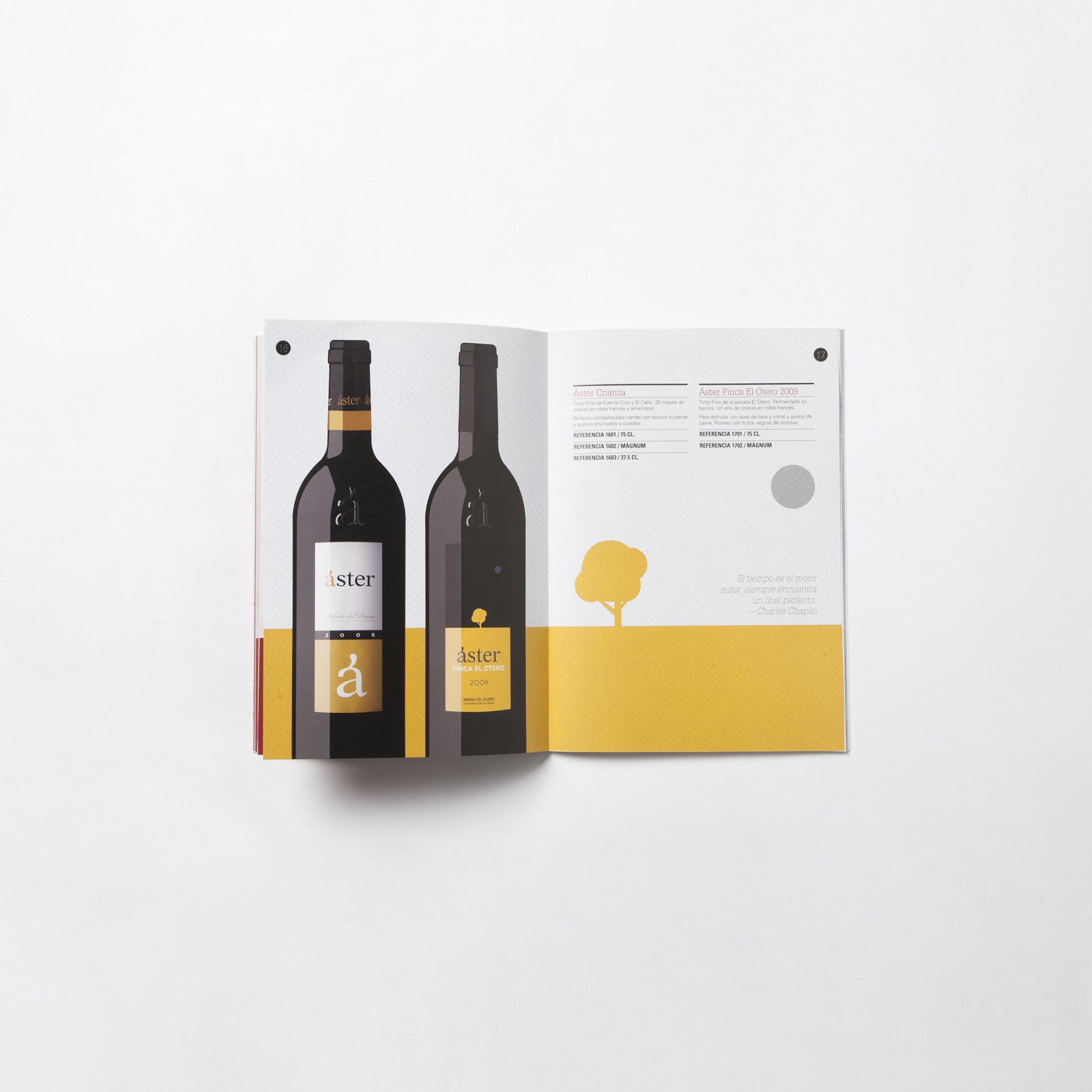 Diseño ilustración catálogo vino