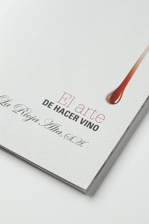 Diseño portada catálogo vino