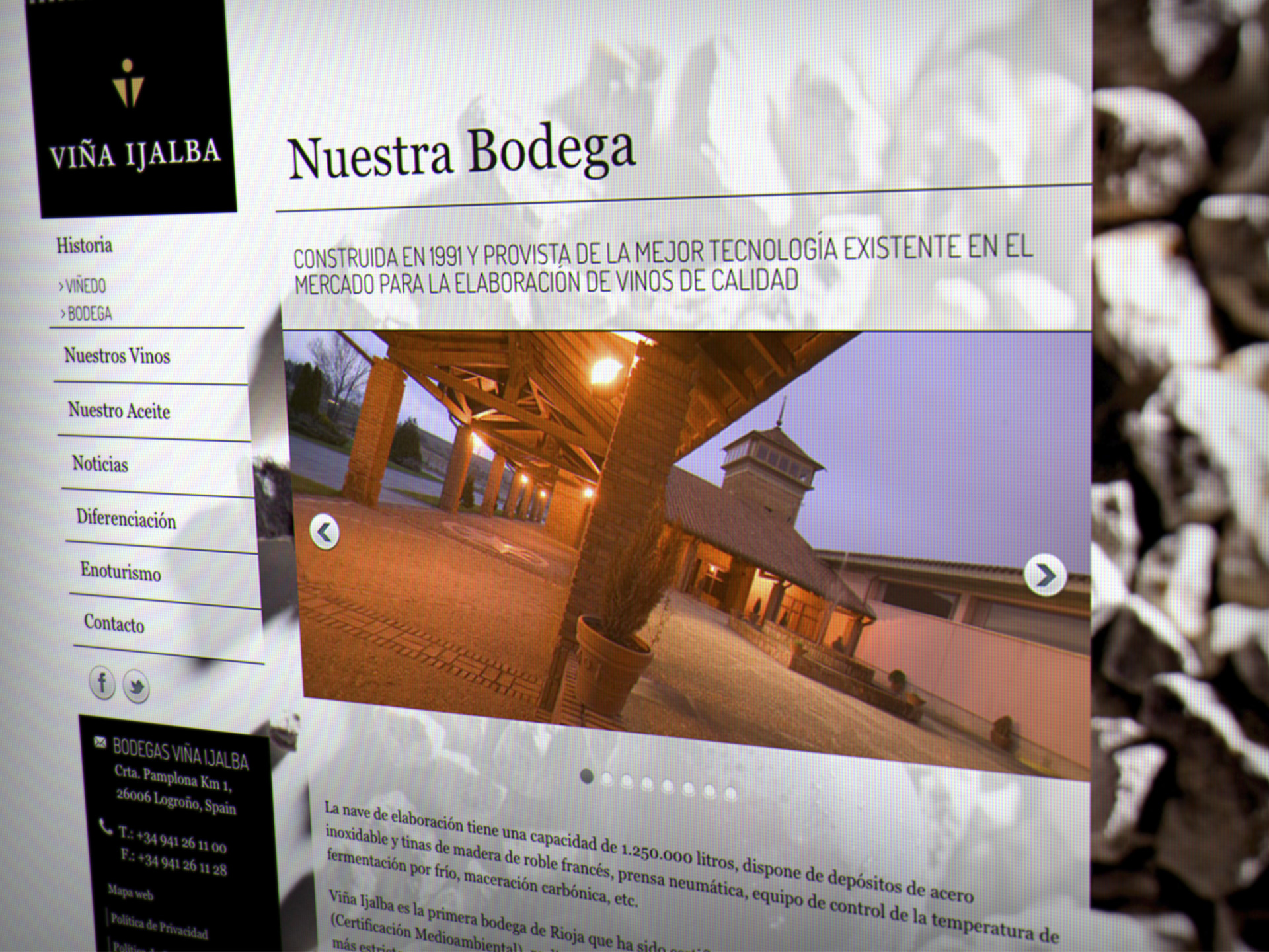 diseño web bodegas ijalba la rioja