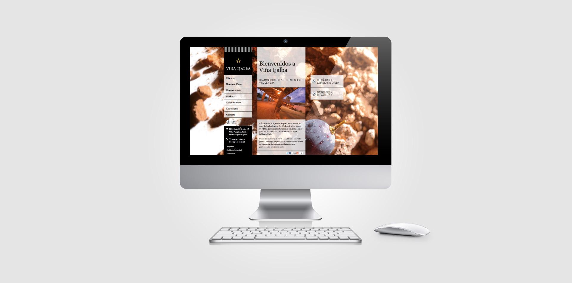 Diseño web responsive bodegas ijalba