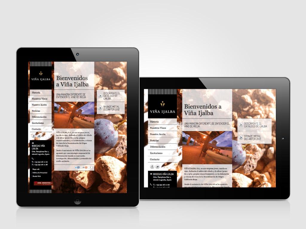 Diseño web adaptativo Bodegas Ijalba Logroño La Rioja