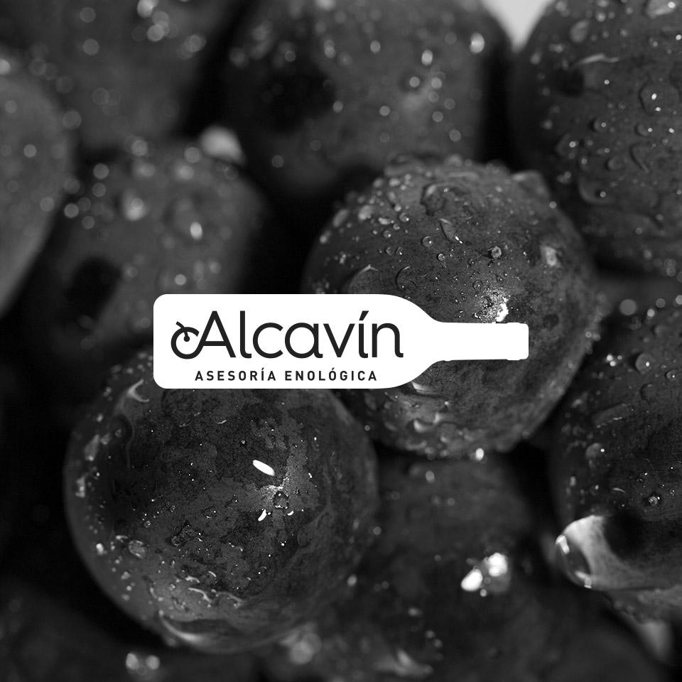 Diseño logotipo asesoria enológica alcavin