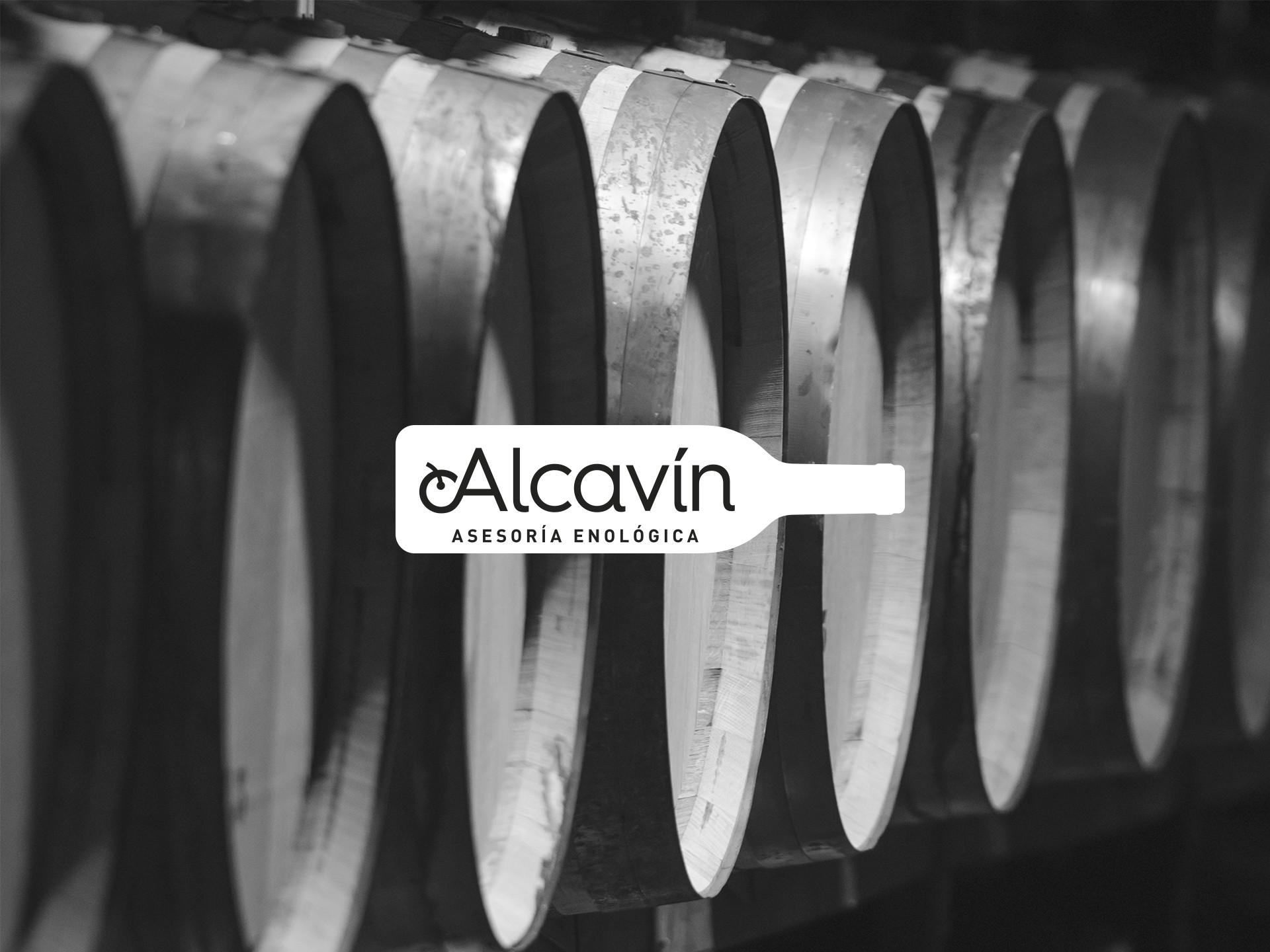 Diseño logotipo corporativo Alcavín