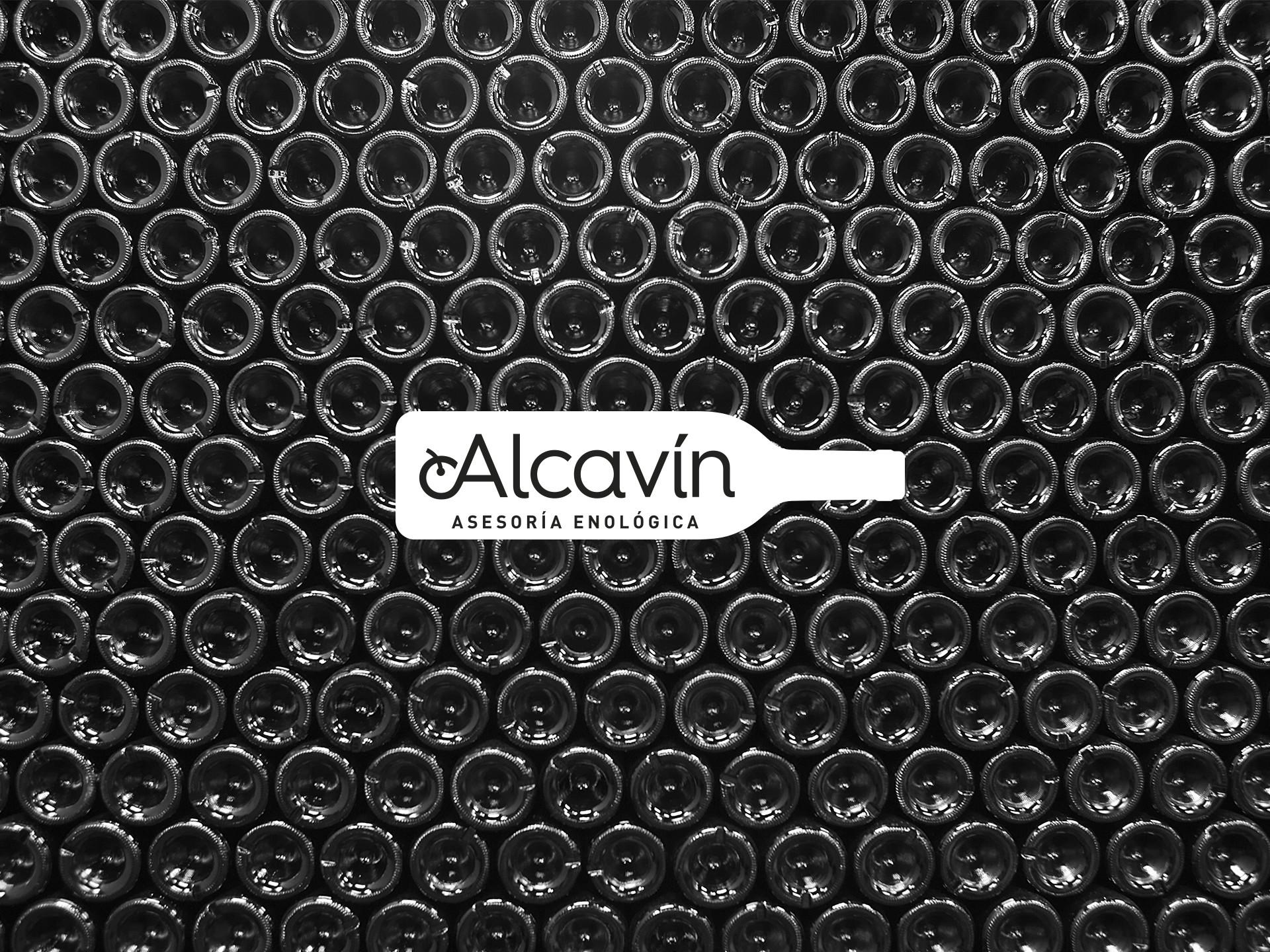 Diseño marca asesoría enológica Alcavín