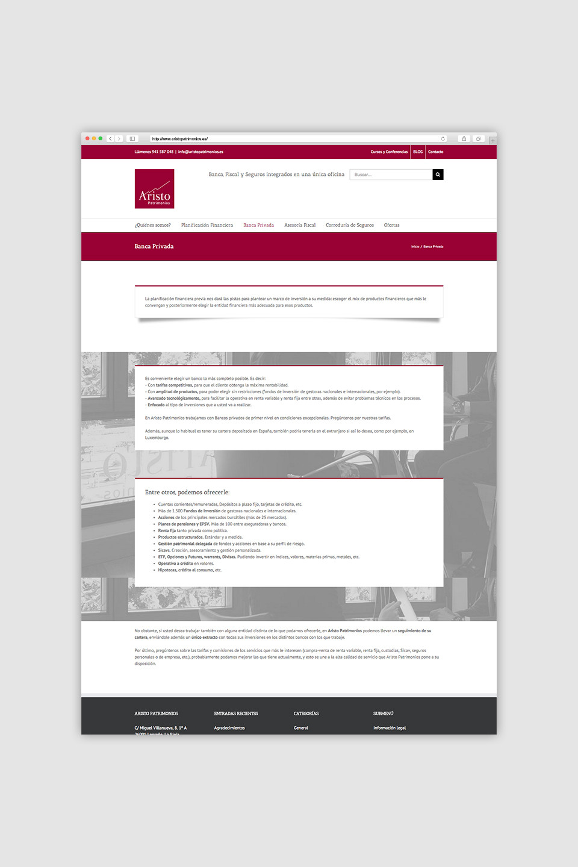 diseño responsive wordpress aristo patrimonio