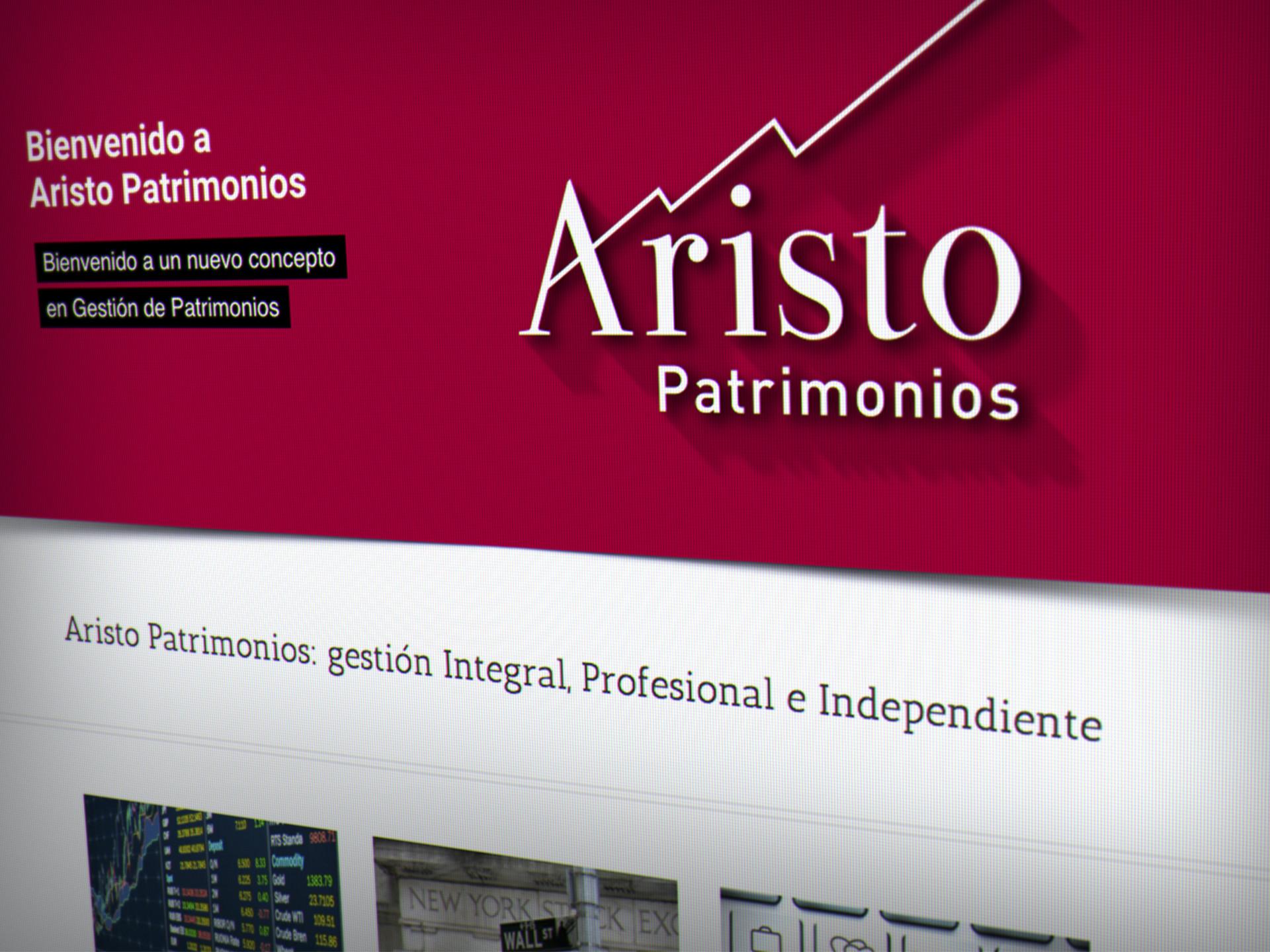 diseño web gestión patrimonio aristo