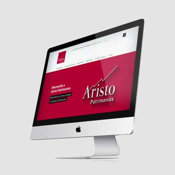 Diseño web asesoría Aristo Patrimonio
