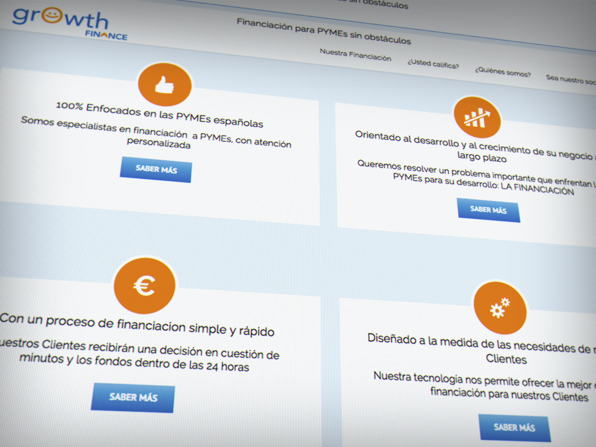 diseño web larioja growth finance