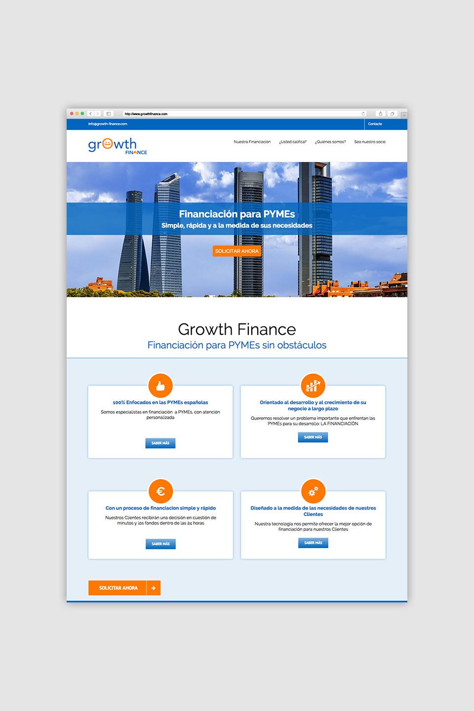 diseño web responsive financiación growth finance