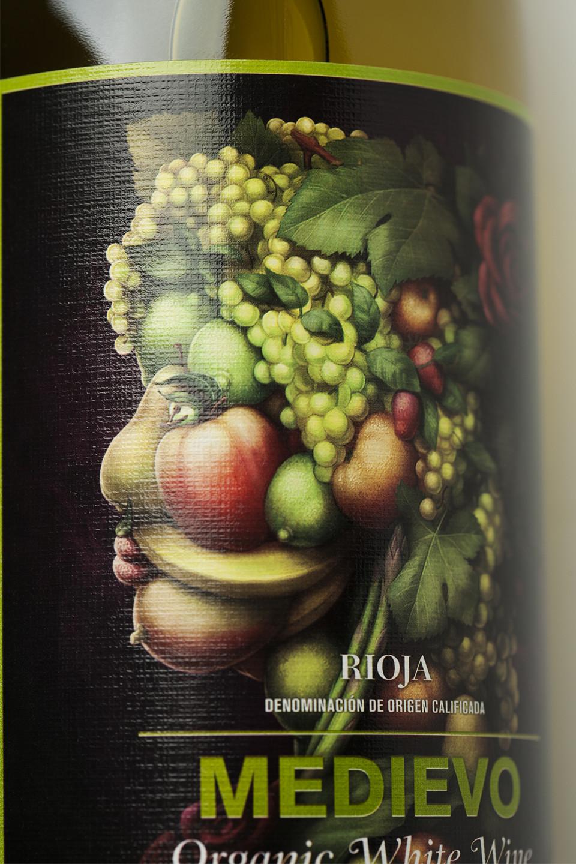 Diseño etiqueta vino blanco ecológico
