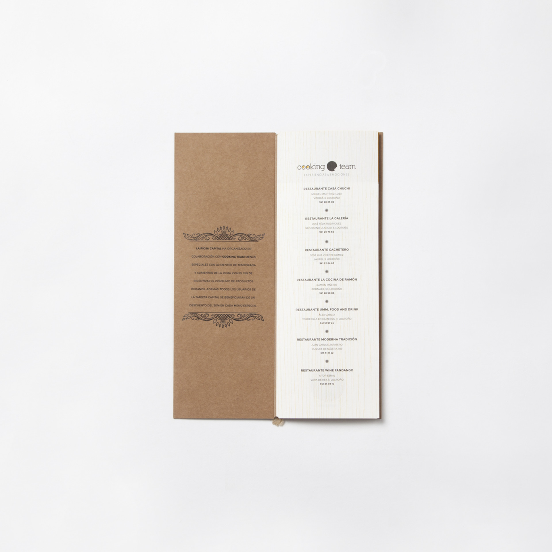 diseno menus especiales cooking team logrono