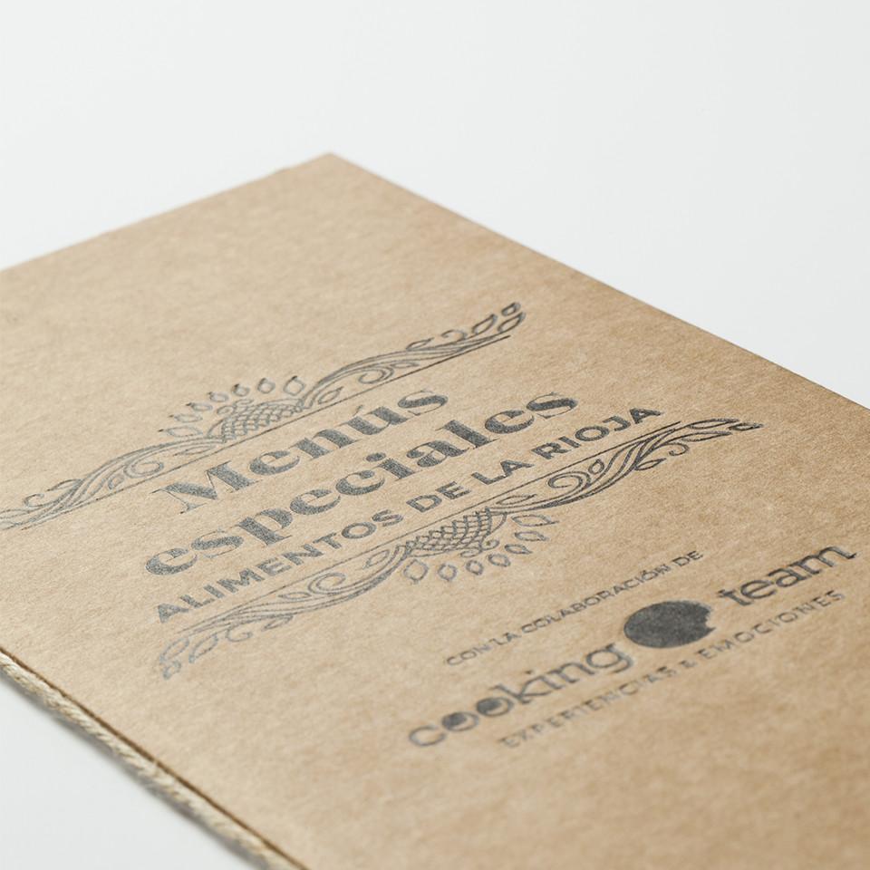 Impresión menú letterpress
