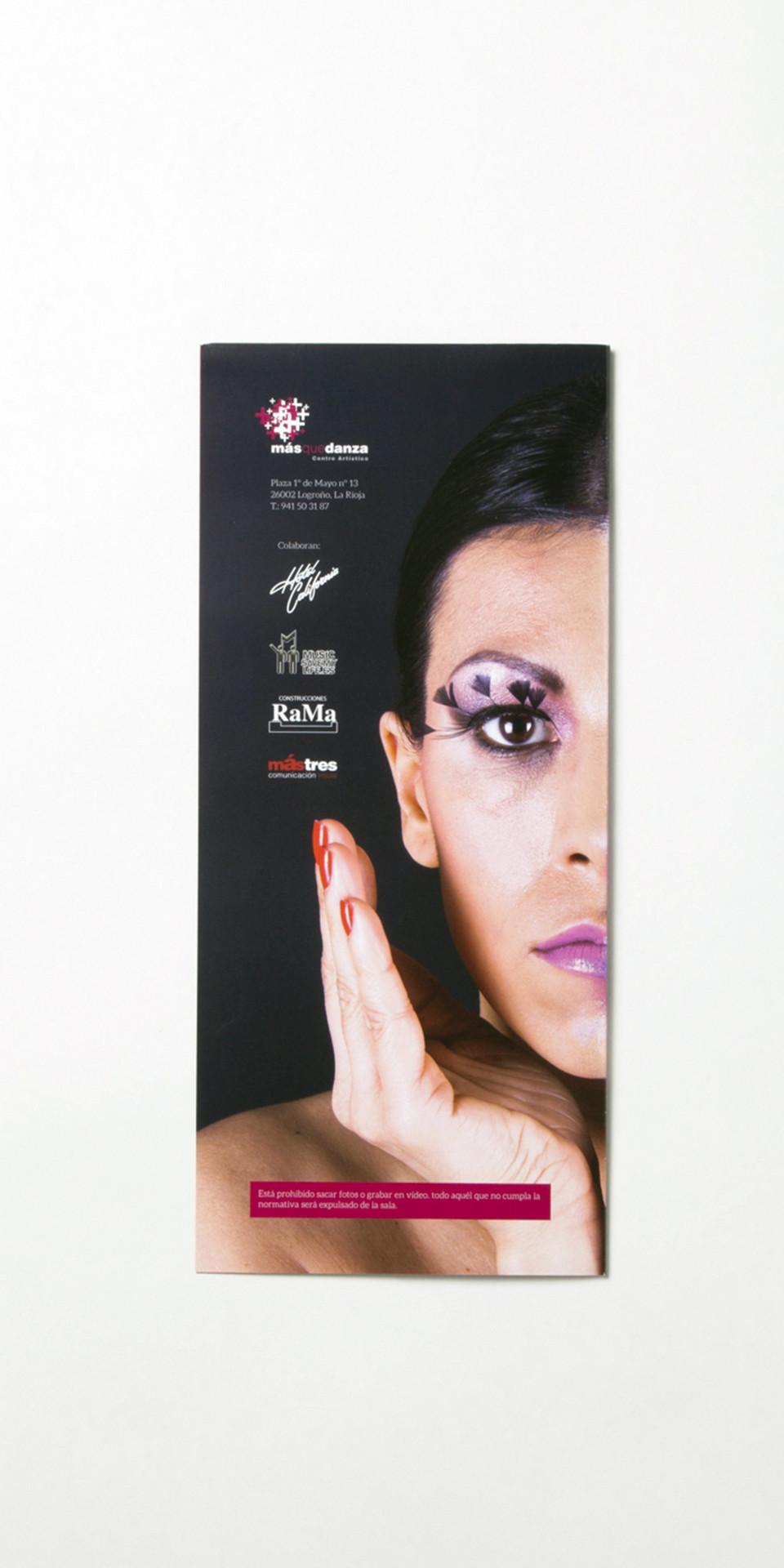 Diseño folleto academia baile