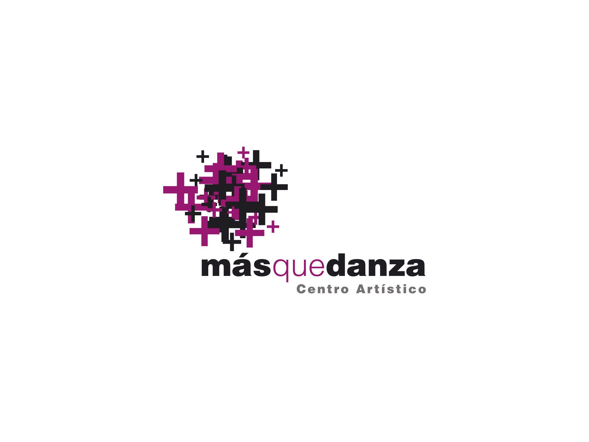 Diseño logotipo academia baile Más que Danza