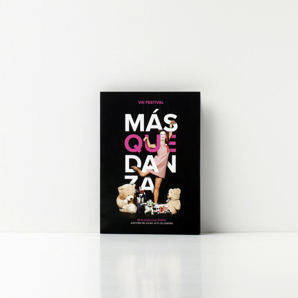 Diseño programa festival Más que danza Logroño