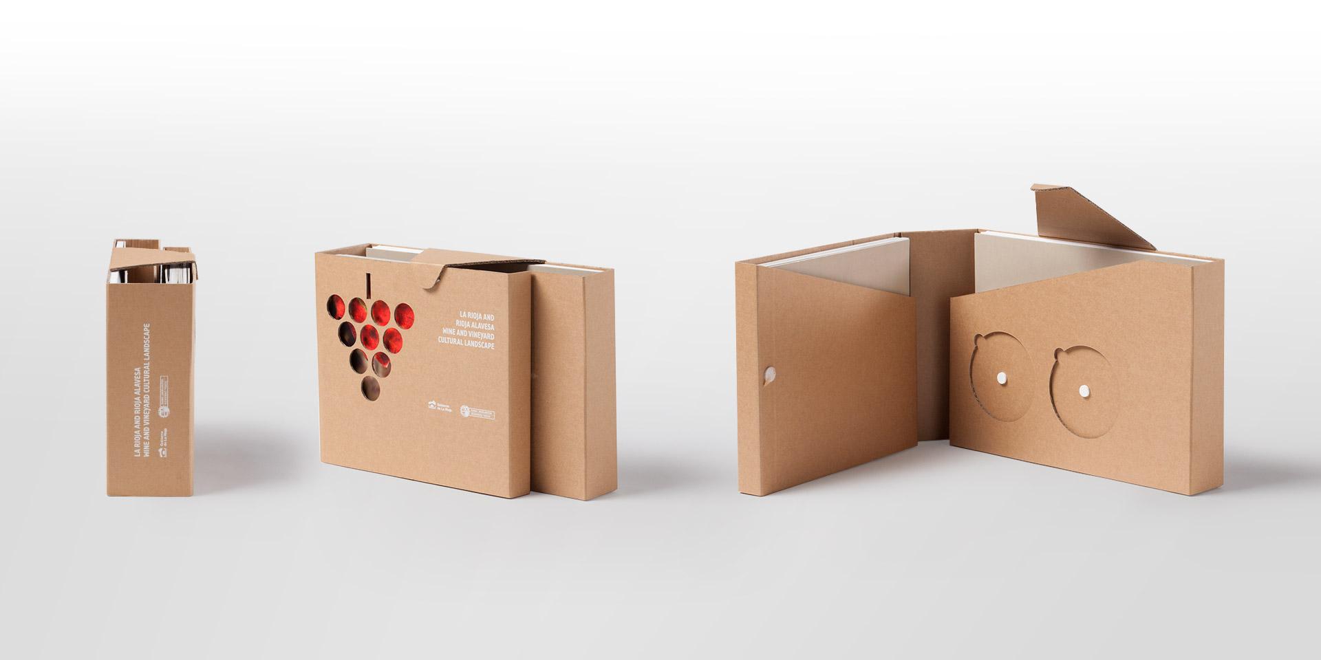 Diseño packaging contenedor dossieres