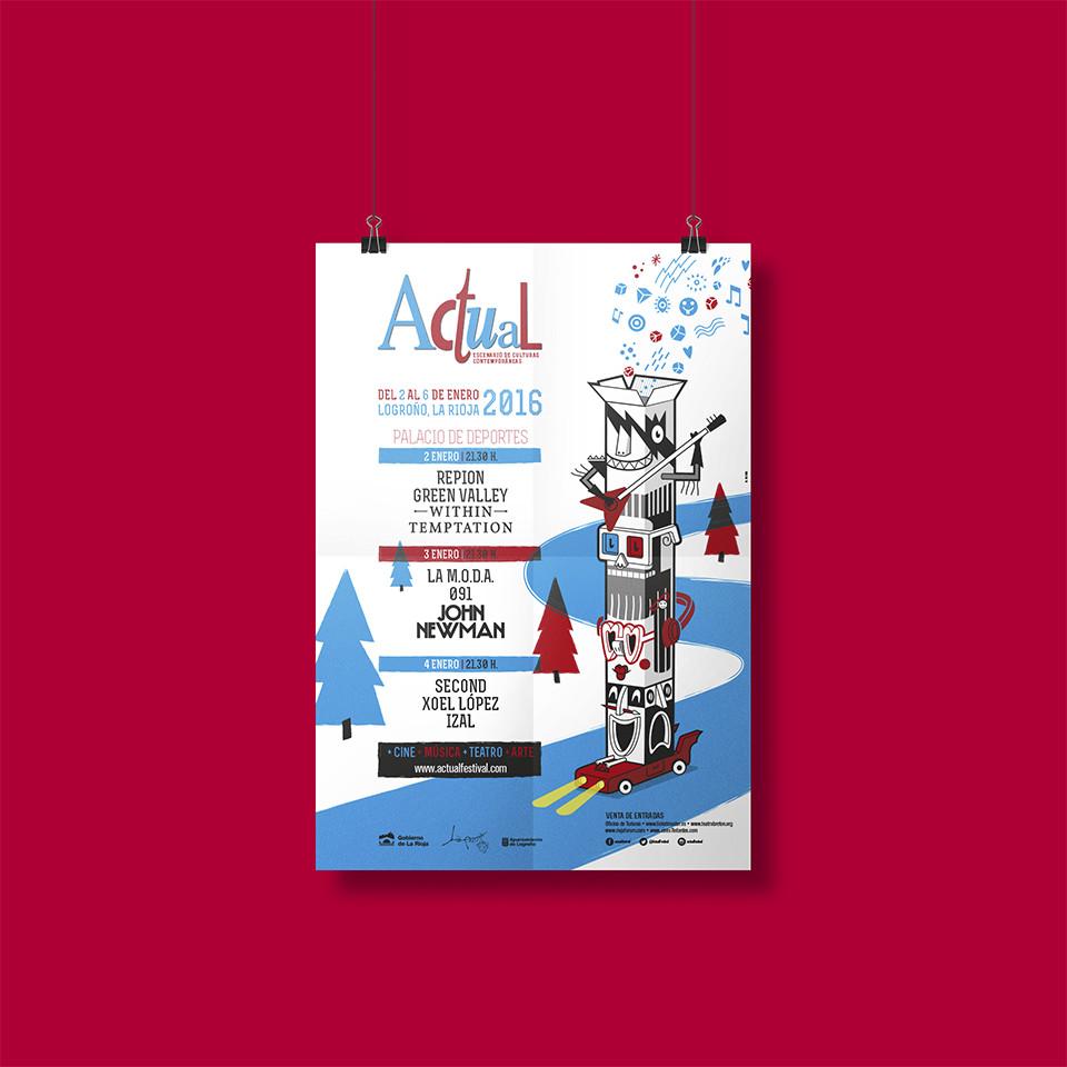 Diseño cartel programa Festival Actual 2016